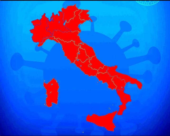 L'Italia cambia colore: Lombardia e Sicilia verso la zona rossa