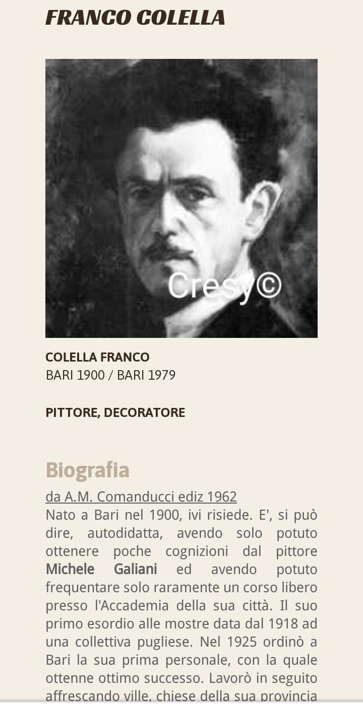 FRANCO COLELLA: pittore barese.