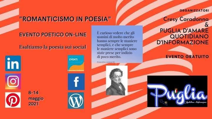 """""""ROMANTICISMO IN POESIA"""" dedicato a Giacomo Leopardi."""